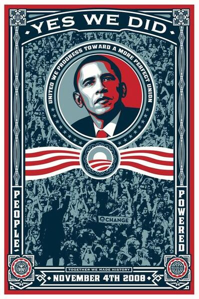 Shepard Fairey, 'Yes We Did (Obama) SIGNED', 2009