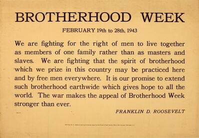 Unknown, 'Brotherhood Week', 1943
