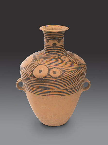 'Large vase with painted wave design', Neolithic