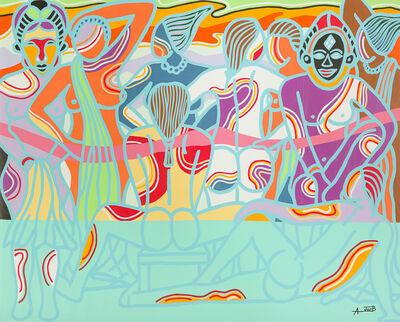 Ajarb Bernard Ategwa, 'Avenue of girls', 2016