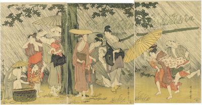 Kitagawa Utamaro, 'Sheltering from the Rain', ca. 1799