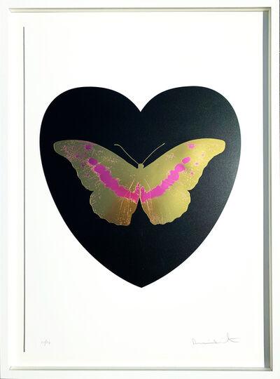 Damien Hirst, 'I Love You - black, cool gold, loganberry 10/14', 2015
