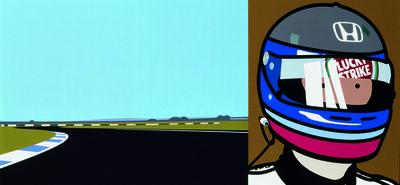 Julian Opie, 'Imagine you are driving (fast)/Rio/helmet', 2002