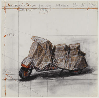 Christo, 'Wrapped Vespa Project 1963-1964', Published 2009