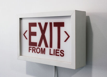 Cabell Molina, 'EXIT from LIES', 2017
