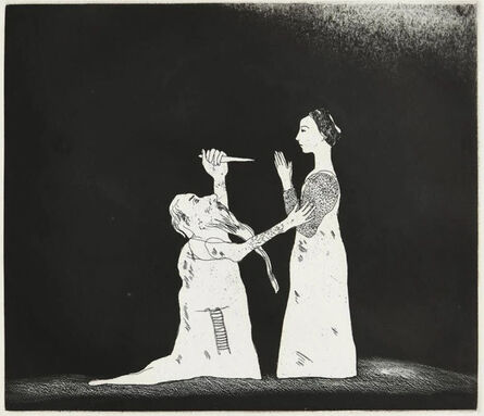David Hockney, 'Old Rinkrank Threatens the Princess', 1969