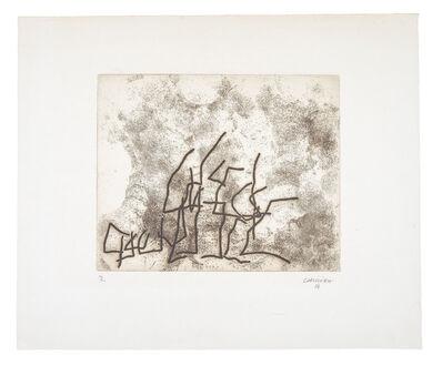 Eduardo Chillida, 'Ecarts', 1961