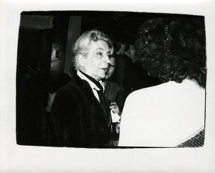Andy Warhol, 'Quentin Crisp ', ca. 1986