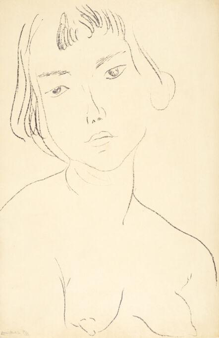 Henri Matisse, 'Visage légèrement penché vers la gauche', 1913