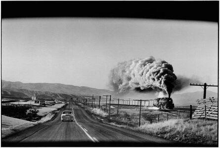 Elliott Erwitt, 'Train & Car , Wyoming', 1954