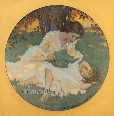 JESSIE WILLCOX SMITH, 'Women with Child, Collier's Magazine Cover', 1904