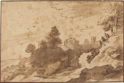 Pieter Dircksz Santvoort, 'Landscape with Bridge and Ruins in Background'