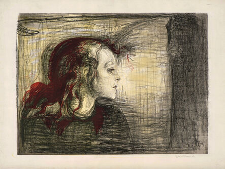 Edvard Munch, 'The sick child', 1896