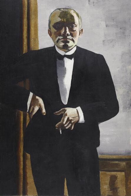 Max Beckmann, 'Self-Portrait in Tuxedo (Selbstbildnis im Smoking)', 1927