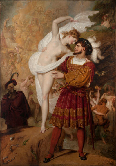 Richard Westall, 'Faust and Lilith (Faust preparing to waltz with the young Witch at the Festival of the Wizards and Witches in the Hartz Mountains)', 1831
