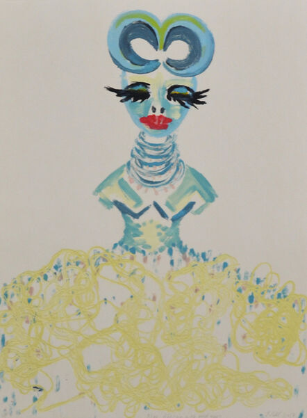 Ilse Pahl, 'Blue African With Gold Eyes', 2017