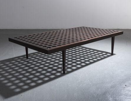 Joaquim Tenreiro, 'Checkerboard coffee table in ebonized wood.', ca. 1950