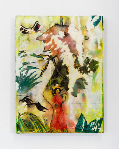 Monsieur Zohore, 'Tu Vas Ou? #1 (Woman in Red in the Forest)', 2021