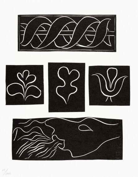 Henri Matisse, 'ORNEMENTS, BANDEAUX ET CULS-DE-LAMPE(Variant XI)', 1944