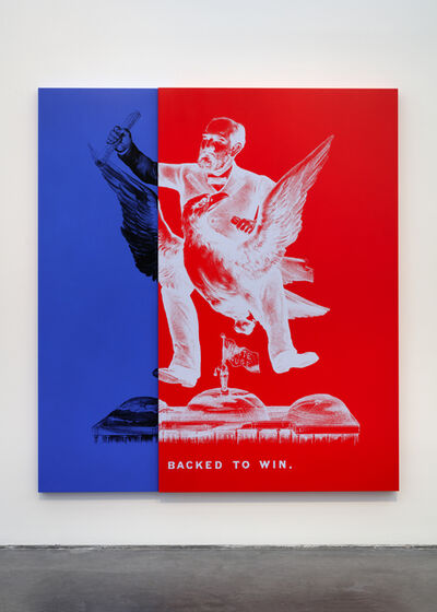 Kathryn Andrews, 'SPIDER-MAN FOR PRESIDENT aka Historical Campaign Poster Painting No.5', 2015