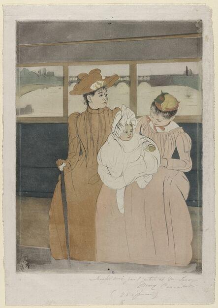 Mary Cassatt, 'In the Omnibus', 1890-1891