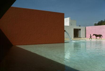 René Burri, 'Horse Pool and House by Luis Barragan, San Cristobal, Mexico', 1976