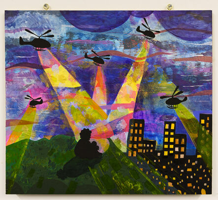 Azikiwe Mohammed, 'Places I've Been With Helicopters #1 / My Building Is On The Left', 2020