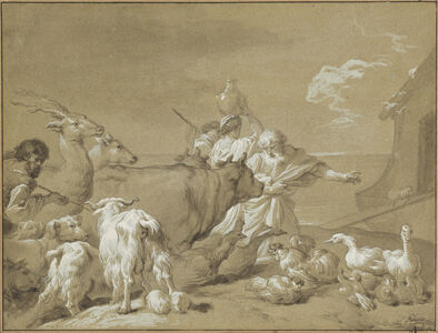 François-André Vincent after Giovanni Benedetto Castiglione, 'Noah Leading the Animals into the Ark', 1774