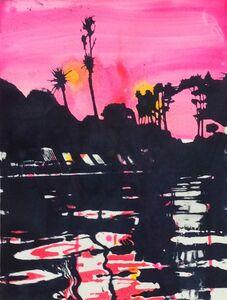 Lucinda Metcalfe, 'Dusk swim red', 2016