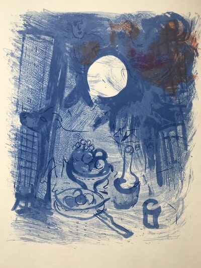 Marc Chagall, 'Still life in blue', 1952
