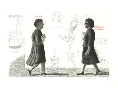 David Hockney, 'Homage to Michelangelo', 1975