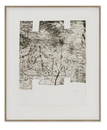 """Eduardo Chillida, 'Yves Bonnefoy: """"Une Hélène de Vent ou de Fumée"""" I ', 1990"""