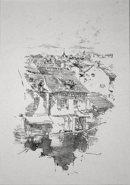 James Abbott McNeill Whistler, 'Vitré: the Canal', 1893