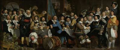 Bartholomeus van der Helst, 'Banquet at the Crossbowman's Guild in Celebration of the Treaty of Münster', 1648