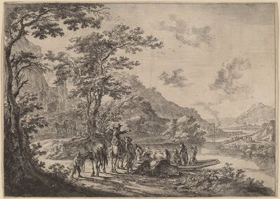 Jan Both, 'View of the Tiber in the Campagna'