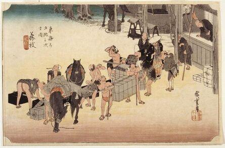 Utagawa Hiroshige (Andō Hiroshige), 'Station 23, Fujieda', about 1833