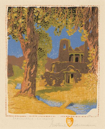 Gustave Baumann, 'Sanctuario-Chimayo', 1924