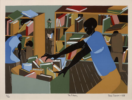 Jacob Lawrence, 'The Library', 1978
