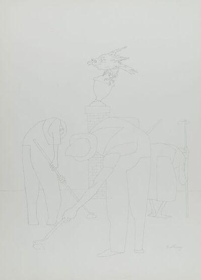 Robert Gwathmey, 'Untitled (Farmer with Crow)', 1903-1988