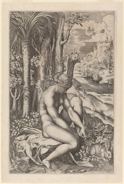 Marco Dente after Raphael, 'Venus Extracting a Thorn from Her Foot'