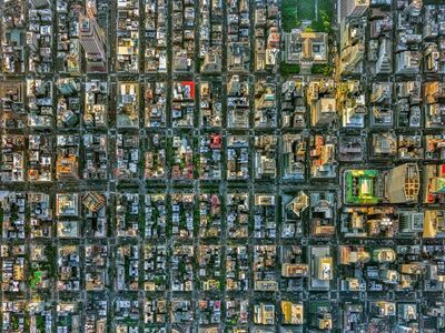 Jeffrey Milstein, 'NYC Park Avenue - NY Aerials', 2016
