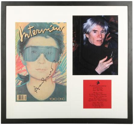 Andy Warhol, 'Interview Magazine, Yoko Ono, January Edition'