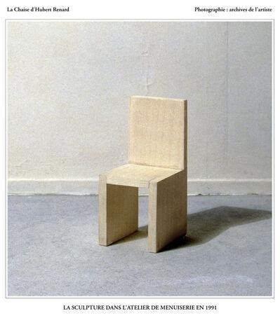 Hubert Renard, 'La Chaise d'Hubert Renard : la sculpture dans l'atelier de menuiserie en 1991', 2020