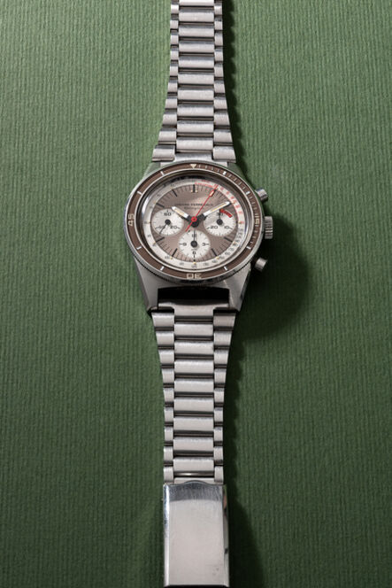 Girard Perregaux, 'A very rare and well-preserved stainless steel chronograph wristwatch with tachymeter scale, bracelet and certificate', 1968