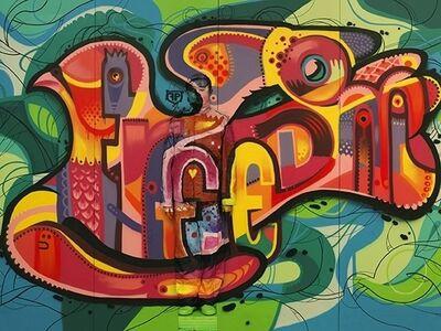 "Liu Bolin, 'Graffiti ""Freedom"" (small)', 2013"