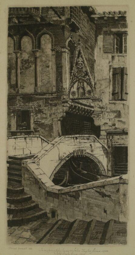 John Taylor Arms, 'Porta del Paradiso, Venice', 1930