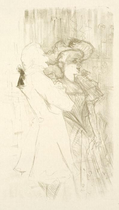Henri de Toulouse-Lautrec, 'LENDER ET AUGUEZ, DANS LA CHANSON DE FORTUNIO', 1895