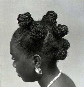 J.D. 'Okhai Ojeikere, 'A Million Braid', 1999