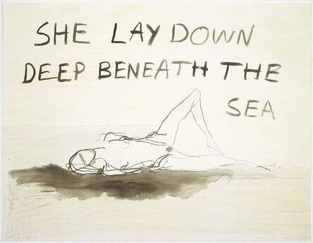 Tracey Emin, 'She Lay Down', 2011