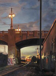 Patricia Chidlaw, 'Graffiti and Tank Car', 2021